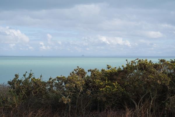 Cancale - La côte avec vue sur le Mont saint Michel